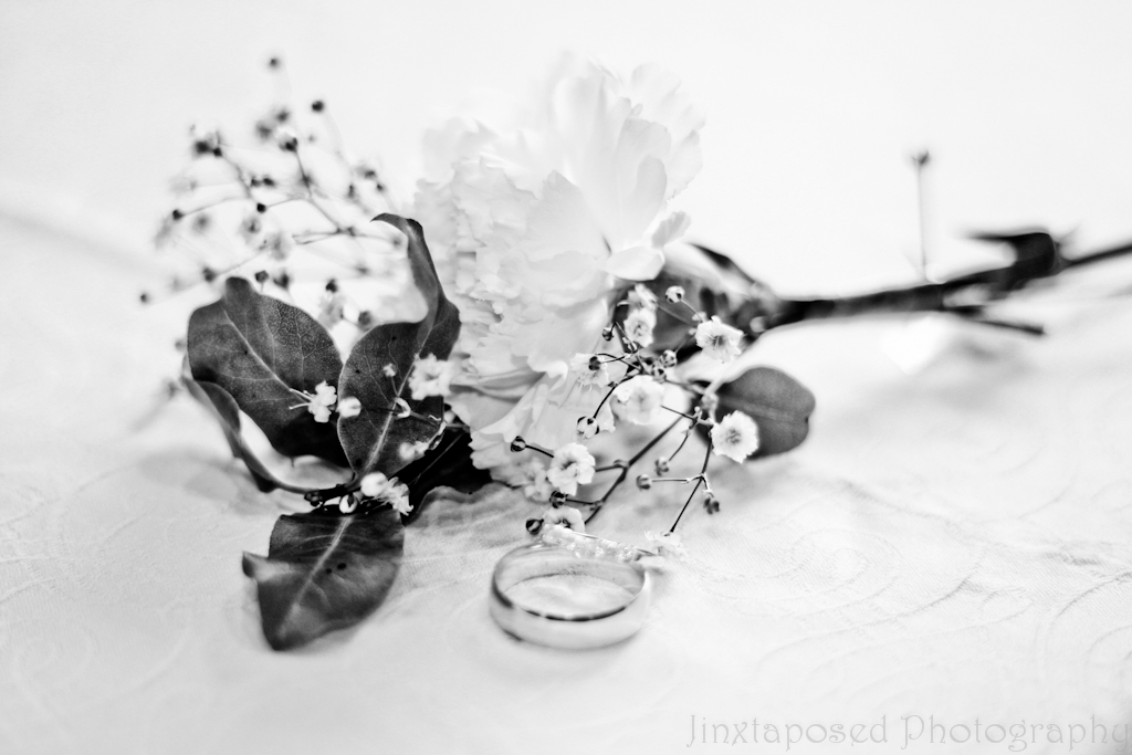 Wedding Buttonhole and Wedding Ring